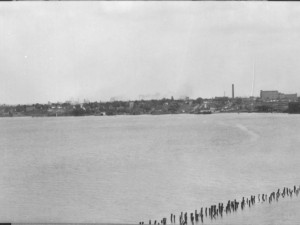 """A section of the Hamilton waterfront, 1927"" Source: Library and Archives Canada, 3317003."