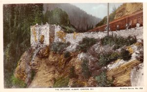 Rogers Pass, Albert Canyon, CPR, colour, 1920s?