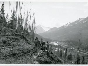 Road building in Banff, 1925. Source: Environment and Society Portal; Second Century Club collection.