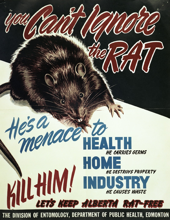 Rats And Communism Protecting Alberta From Invasion In The Early