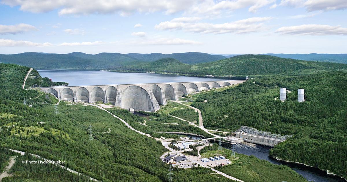 Daniel-Johnson Dam and Manic-5 Generating Station, Quebec