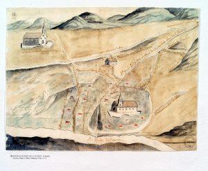 """""""Bogotá y la Serrezuela"""", 1771. Archivo General de la Nación (Colombia), Sección Mapas y Planos, Mapoteca 4, 34A"""