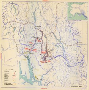 "Image reproduced from ""An Interim Report on the Yukon-Taiya Project, Alaska-Canada,"" Alaska District Office, Bureau of Reclamation, U.S. Department of the Interior, Juneau, Alaska (June, 1951)."