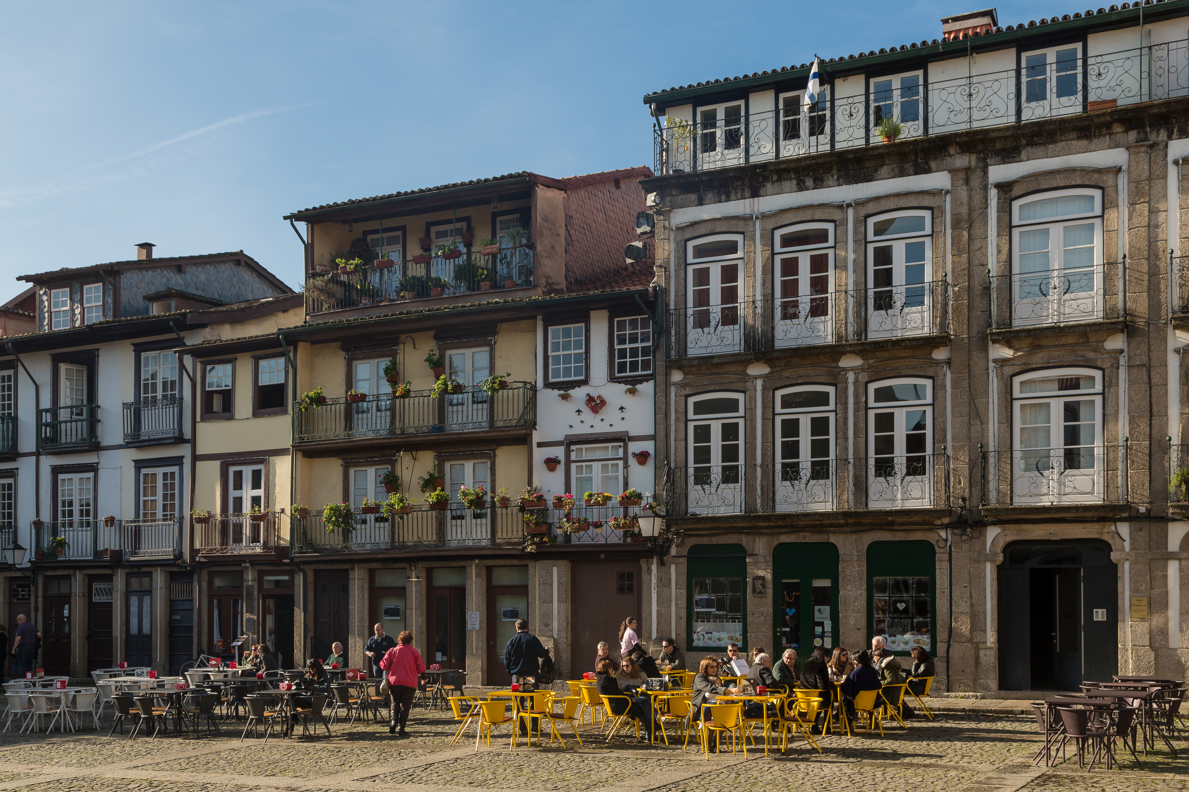 Square in Guimarães, Portugal. Source: Wikimedia Commons.