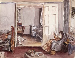 Katherine Jane Ellice,  The Drawing Room at the Seigneury House, Beauharnois, Lower Canada (1838), Library & Archives Canada