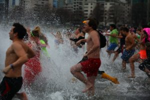 Polar Bear Swim, English Bay, Vancouver, BC. Source: Flickr