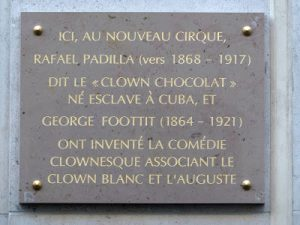 Plaque in memory of Padilla and Foottit, Paris