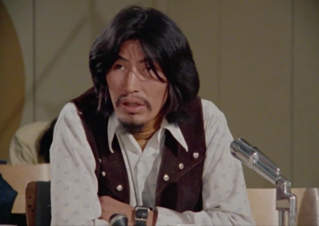 "Chief Frank T'Selei, in the NFB documentary ""Fort Good Hope"" (dir. Ron Orieux, 1977)"