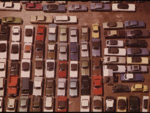 Downtown Parking Lot August 1973, U.S. National Archives' Local Identifier: 412-DA-10844, Flicker Commons