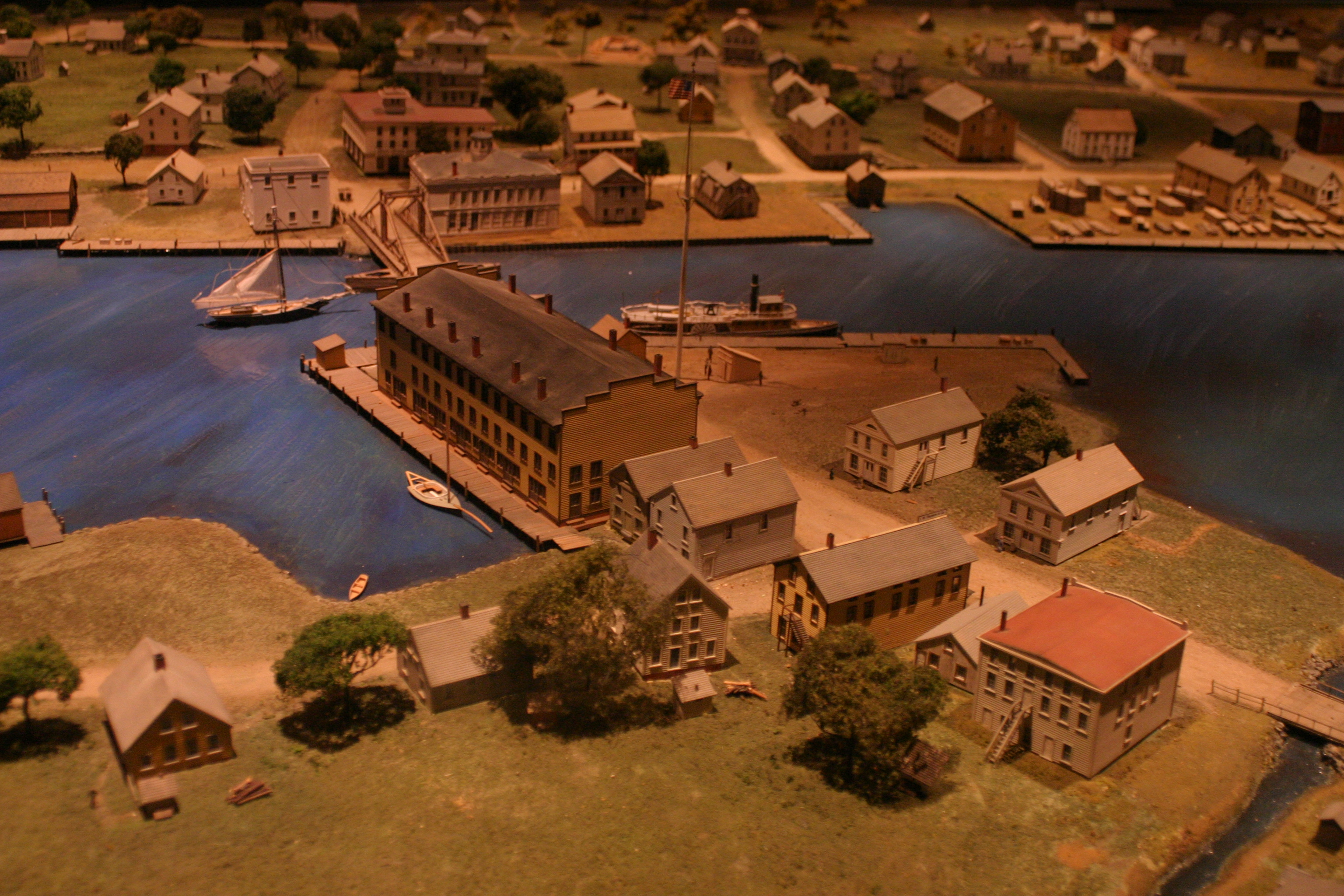 Model at Mystic Seaport, courtesy John Lamar, Flickr