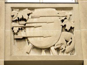 Bas-relief by Elizabeth Wyn Wood, Ryerson University, Toronto. Photo: Sandra Cohen-Rose and Colin Rose.