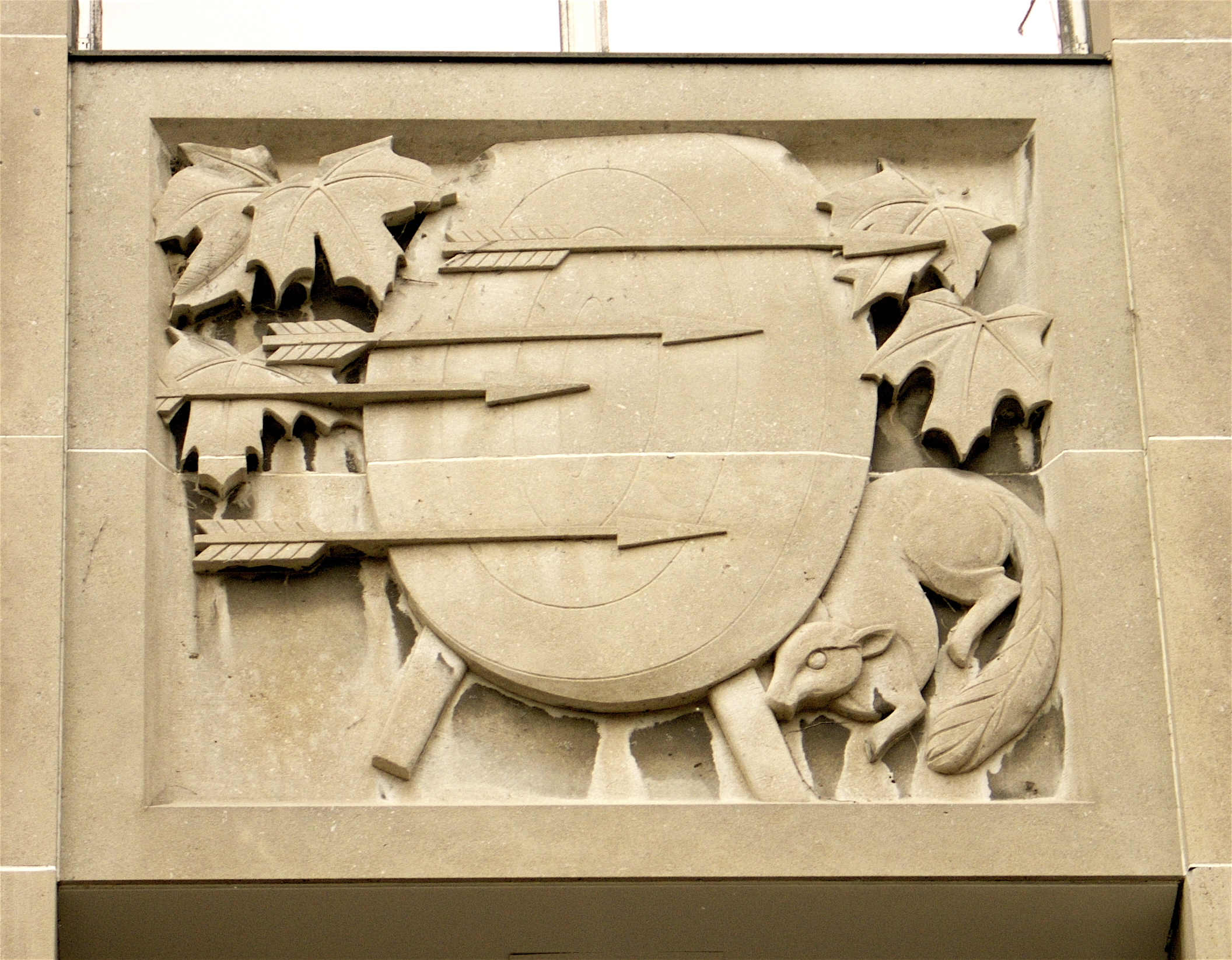 Bas-relief by Elizabeth Wyn Wood, Ryerson University, Toronto. Photo: Sandra Cohen-Rose and Colin Rose.