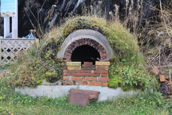 A bread oven built to mark the French Shore celebrations in 2004, at Quirpon, Northern Peninsula.